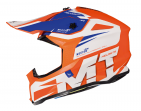 Шлем MT MX802 FALCON WESTON  gloss pearl fluo orange