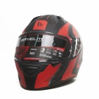 ШЛЕМ MT STINGER WARHEAD  Matt Black Red Grey